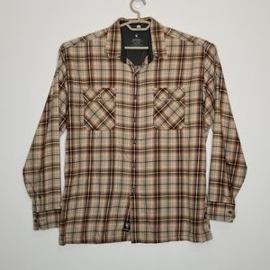 Kuhl Outrydr Flannel Shirt XL Plaid Brown